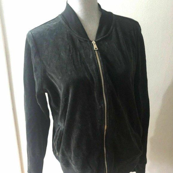 RALPH Ralph Lauren Women's Black Velvet jacket